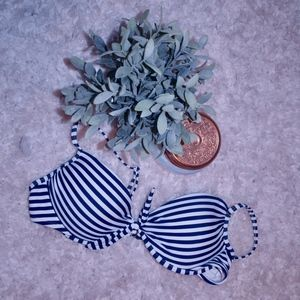 Target Navy and White Striped Bikini Top